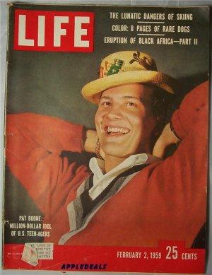 Life Magazine Feb 2 1959 Pat Boone Dogs Black Africa DeMille