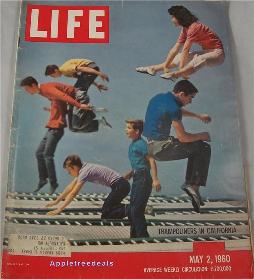 Life Magazine May 2 1960 DeGualle Korean Riot Chess Anaconda