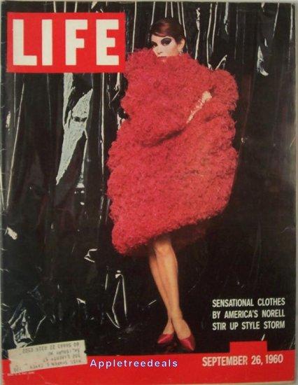 Life Magazine Sept 26 1960 American Fashion Norell Nixon Kennedy