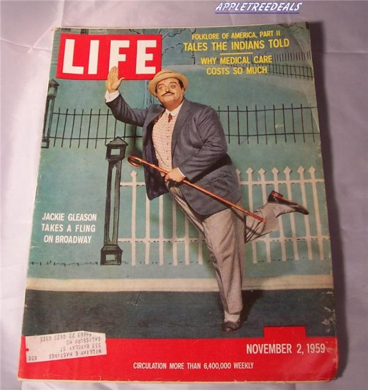 Life Magazine Nov 2 1959 Gleason Castro Yellowstone Algeria