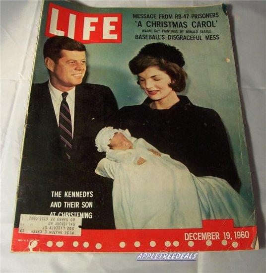 LIFE MAGAZINES 1960 KENNEDY JFK BASEBALL DISGRACE BABY