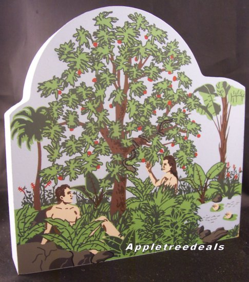 ADAM & EVE Bible Series GENESIS The Cat's Meow Village Bible Series