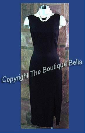 Size 4-6 Small Cocktail Party Bak Keyhole Long Sheath Dress
