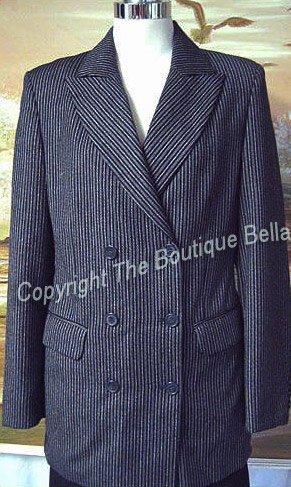 SIZE 6 -  Ladies Trendy Striped Italian Jacket Blazer 6 40