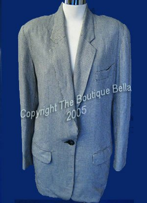 SIZE 6 - 8 Ann Taylor Classic Black White Career Jacket Blazer