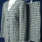 SIZE 8 -10 CASUAL CORNER Plaid Blue Taupe career skit suit