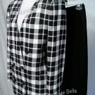 SIZE 4 - 6 - BANKERS CLUB Plaid Blue-white-pink career skirt suit