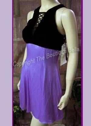 SIZE 0 - 2 XSM Petite Mcclintock Lilac Black Coctail Party Dress - New