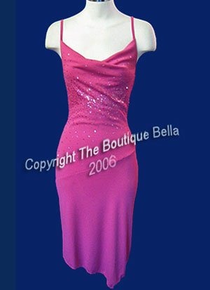 SIZE 6 - 7 - MED NEW Sensual Hot Pink Sequined Cocktail dress