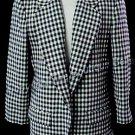 SIZE 8 PET - PENDLETON WOOL Black Cream Plaid Jacket Blazer