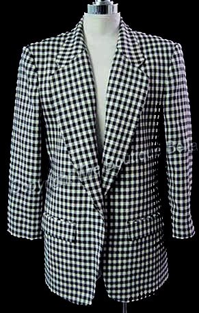 SIZE 8 PET - PENDLETON WOOL Black Cream Plaid Jacket Blazer
