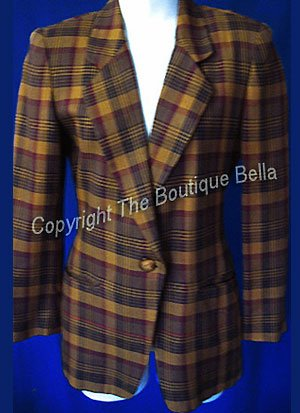 SIZE 0 - 2  Xmall Petite  Jones New York Plaid Career Jacket Blazer