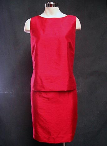Size 4-8  CUTE Summery career raspberry skirt suit set