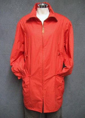 Size sm-Med ANN KLEIN Spring Salmon Raincoat Jacket