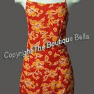 Size Med Jr - VACATION Orange Floral Beach dress Med Jr