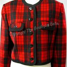 Size 8 pet - SHORT RED/BLACK PET JACKET