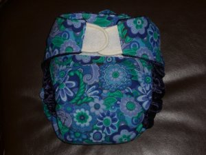Size large fitted diaper