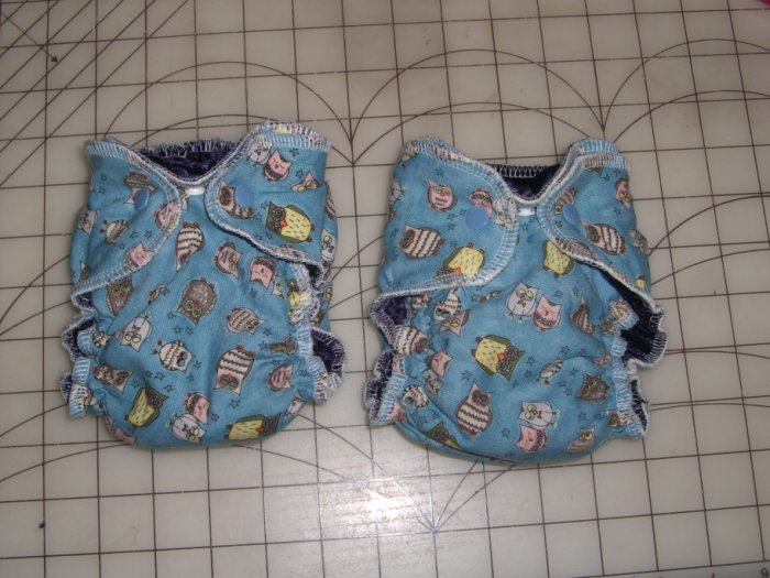 Newborn fitted diaper