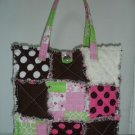 Rag Patch Purse, Quilt Patchwork Tote, Cotton Quilt Bag
