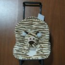 Tiger Bag, Kids Luggage with Wheels, Plush Tiger
