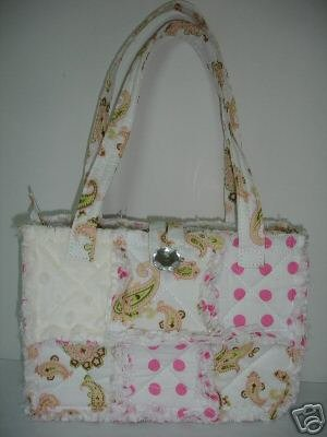 Quilted Patchwork Rag Bag or Purse, All Cotton