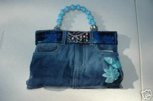 Denim Blue Jean Purse, Booty Bag