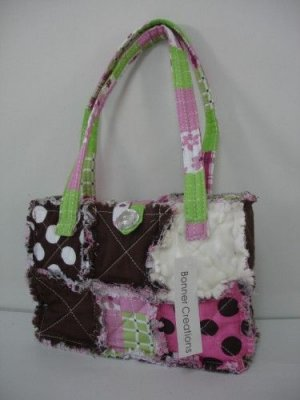 Patchwork quilted rag bag, rag bag purse, patchwork rag