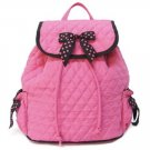Quilted Pink backpack Quilt Backpack purse