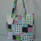 Rag Purse, Pink Patchwork Purse, Rag Bag Tote, Quilted