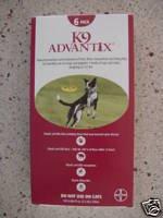 K9 Advantix 21-55lbs,Red Box, 6 Month Supply, Sealed