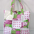 Patchwork Ragged Bag, Rag Purse, Quilted Tote, Cotton