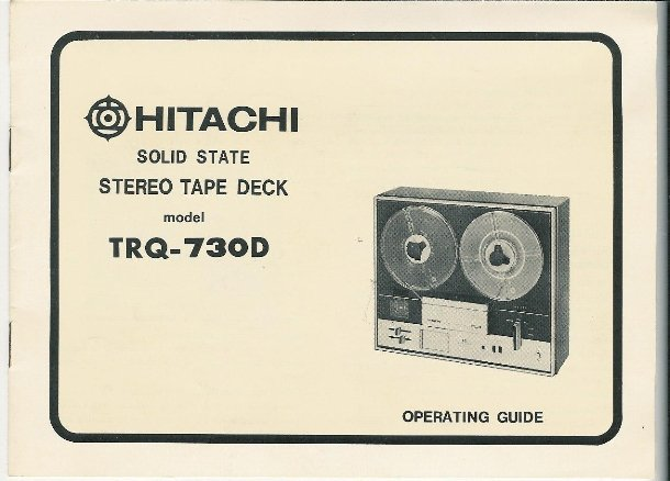 Hitachi Stereo Tape Deck Manual