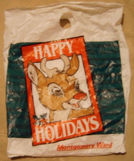 Montgomery Ward Rudolph bag & gift box