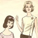 Vintage Womens Top Pattern - 1960s - 5542