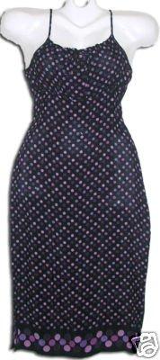 Sundress Black & Purple Dots Rockibilly Sz. M