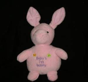 Russ Baby's First Bunny Pink Plush Lovey