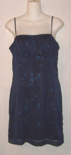 XOXO Blue Floral Evening / Party Dress Sz 7 Jrs