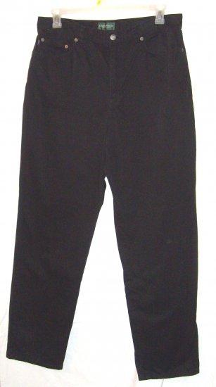 Lauren Jeans Co. Black 5 Pocket Jeans Sz 16