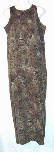 Carole Katz California Sleeveless Long Sage Dress Sz Md