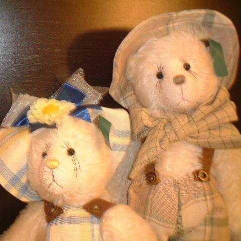 Pair of Teddy Bears Buddy and Belle Bear Essentials Effanbee