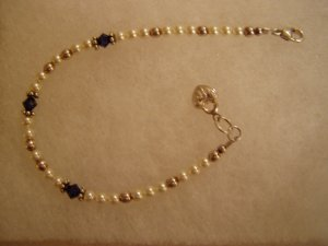 Saphire and Pearl Bracelet