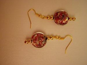 Lampwork Swirl Dangle Earrings
