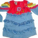 BEETLEJUICE London BABY Ruffle EMBRIODERED DRESS 12M