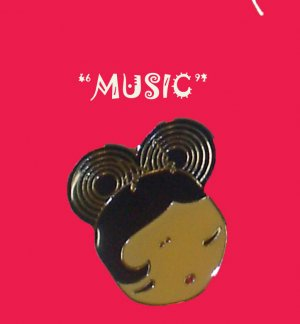 "Gwen Stefani HARAJUKU LOVERS Charm Necklace ""MUSIC"" 16"""