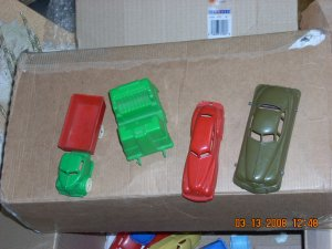 mixed lot of vehicles