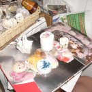 mixed lot of doll size basket; etc