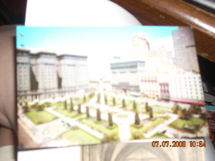 union square san francisco security lithograph