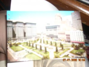 union square san francisco security lithograph