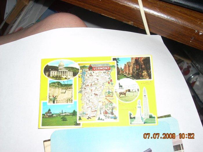 forward's colour productions vermont souvenir postcard