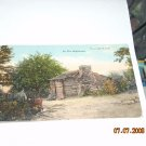 vintage postcard   north carolina log house